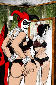 Harley Quinn Undressing by jmascia