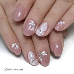 Easy to try nail trends, look here is enough - Page 91 of 140 - Inspiration Diary French Acrylic Nails, Best Acrylic Nails, Oval Nails, Pink Nails, Nagellack Design, Plaid Nails, Wedding Nails Design, Butterfly Nail, Pretty Nail Art