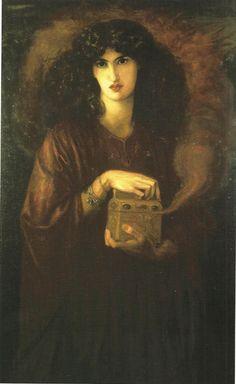 I stretch my hands and catch at hope... 'Pandora' by Dante Gabriel Rossetti.  Model: Jane Morris