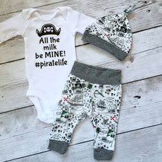 Pirate baby pirate outfit Newborn boys by PinkPineappleCouture