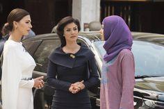 Basma, Moran Atias, and Annet Mahendru in Tyrant (2014)