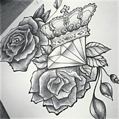 diamond crown tattoo - Buscar con Google