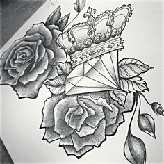 roses and diamond tattoo - Google Search