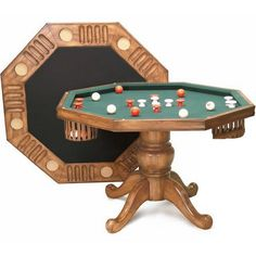 54 Inch Berner Bumper Pool Combination Table - could be stained or whitewashed a lighter color