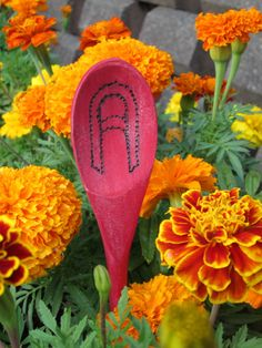 Turn a wooden spoon into a garden ornament with Rit Dye.