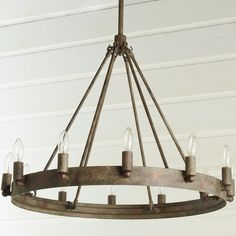 $500 Urban Loft Industrial Circular Chandelier iron