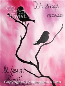 Song Birds - East Longmeadow, MA Painting Class - Painting with a Twist