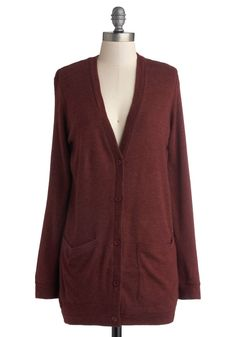 Take Your Term Cardigan in Maroon, #ModCloth