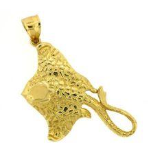 NEW 14k YELLOW GOLD STINGRAY FISH NAUTICAL 3D CHARM PENDANT JEWELRY in Jewelry & Watches, Fine Jewelry, Fine Charms & Charm Bracelets | eBay