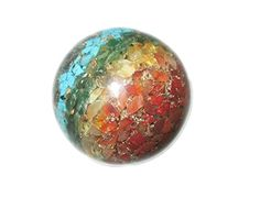 New Chakra Layer Gemstone Orgone Sphere Ball Chakra Unique Cleansing Crystal Gemstones Copper Metal Mix Rare Healing Positive Energy Tetrahedron Sacred Geometry Memory Concentration Meditation Spiritual Psychic Piezo Electric Effect Business Massage Ball Therapy Prosperity Success Destress Anxiety Disorder Love Power Mental Peace Strength Divine X-mas Mother's Day Father's Day Thanks Giving Birthday Anniversary Thinking of You Sorry Hug Get Well Soon Husband Wife Grand Father Children…