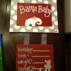 Hospital alabama baby door hanger