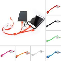 Multi USB C Charging Cable Natural Colorful Art Cannabis Leaf Multi 3 in 1 Retractable Multi Retractable Charging Cable with Micro USB//Type C Compatible with Cell Phones Tablets