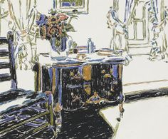 David Brown Milne Canadian, 1882–1953 The Black Cabinet, 1922 gouache on paper 35.4 x 42.8 cm
