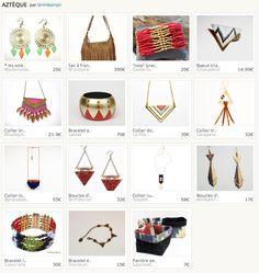 Le bracelet triangles et motifs aztèques.