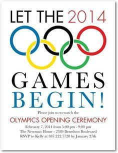 Olympic Party Invitations