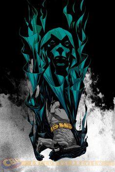 Striking BATMAN ETERNAL Cover Art by Dustin Nguyen