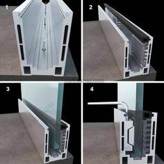 Glass railing with solid aluminum base – Yurihomes Balcony Glass Design, Glass Balcony Railing, Steel Railing Design, Aluminum Fabrication, Window Glazing, Facade Lighting, Glass And Aluminium, Laminated Glass, Glass Balustrade