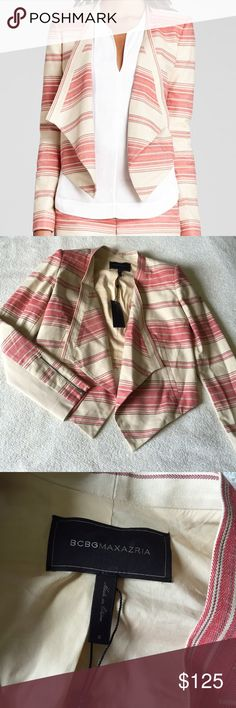 Host Pick BCBGMaxAzria Jacket NWT. Beautiful colors for fall. This jacket has flexible material in the sleeves for maximum comfort. BCBGMaxAzria Jackets & Coats