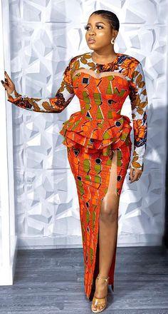 African Wear Dresses, African Wedding Dress, African Fashion Ankara, African Print Fashion, African Attire, Nigerian Dress Styles, African Print Dress Designs, Vogue, Kimono Fashion