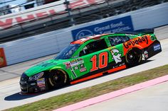 Danica Patrick driver of the GoDaddy Chevrolet practices for the NASCAR Sprint Cup Series Goody's Headache Relief Shot 500 at Martinsville Speedway...