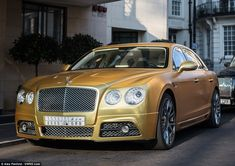 A gold Mansory Bentley Flying Spur worth £220,000 was spotted parked up on the streets of London's wealthiest borough