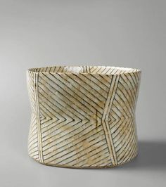 gertrud vasegaard // stoneware bowls and vases are beautifully decorated with warm colors — ochres, umbers, grays, blues and sage — and with subtle abstract patterns Ceramic Bowls, Ceramic Pottery, Pottery Art, Stoneware, Slab Pottery, Thrown Pottery, Pottery Studio, Pottery Bowls, Contemporary Ceramics
