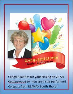 Congrats Kathy Lieberman!