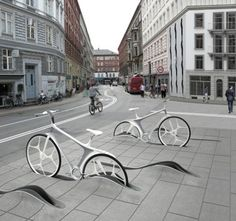 New bike share system, Copenhagen. An intriguing proposal to increase bike ridership among commuters - make the experience elegant, seamless and enjoyable.