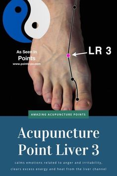 Acupuncture Point: Liver 3 – Acupuncture Technology News When Qi and Energy congest in the liver meridian, symptoms of anger, Meridian Acupuncture, Acupuncture Points, Acupressure Points, Acupressure Massage, Reflexology Points, Foot Reflexology, Autogenic Training, Qigong, Traditional Chinese Medicine