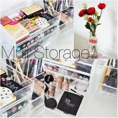 Muji Storage by makeupsavvycouk, via Flickr <-Love Muji perspex storage units, and make-up is a great use for them