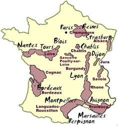 Visiting the French Wine Regions   France Wine Regions Map