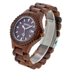 ff3ec8e93937c2 Bewell Men s Natural Wooden Wristwatch Wood Watch Quartz with Date + Box  Feature  Brand  Bewell Handmade from Natural Sustainable Wood Case  Material  Maple