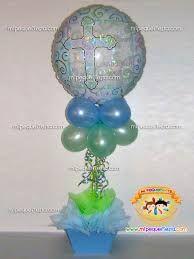 centro de mesa para bautizo con globos de nio buscar con google