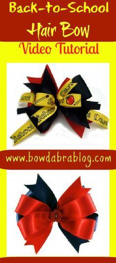 Back to School Hair Bows: Using the Mini Bowdabra Hair Bow Making Kit