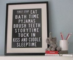 I think we need several different ones of these: getting ready, cleaning room, after school, bedtime... The question is do I have enough wall space? :)