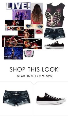 """""""Wwe live-Me vs Sasha Banks"""" by riley-497 ❤ liked on Polyvore featuring Almost Famous, Converse and Julio"""