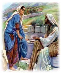 Imagen de http://www.kidstime4jesus.org/bible_lessons/my_bible_first/lessons/lesson_18_images/woman_well.jpg.