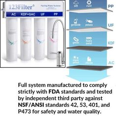 iSpring CU-A4 water best under sink water Filter   With the best iSpring US31 3-Stage Best under sink water structure, you can now get your comfortable and speedy hydration. The US31 is a 3 in 1 advance filtration system. The filtration system requires no tank and displays the ability to empty buildup, chlorine, normal, manufactured mixes. The US31 filtration system was delivered that consent to FDA standards and affirmed against NSF/ANSI rules to ensure water quality, material security, and fun Under Sink Water Filter, Brita Water Filter, Water Filters, Water Filtration System, Water Systems, Planet Coffee, Coffee Filter Art, Alkaline Water Filter, Filtered Water Bottle