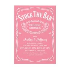 Wedding shower party theme. Both men and women can attend. Great for second wedding.