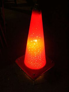 Traffic Cone Lamp  From: http://www.instructables.com/id/Traffic-Cone-Lamp/#