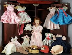 Amazing! : VINTAGE MADAME ALEXANDER CISSETTE DOLL WARDROBE DRESSES HATS ROBE GOWN SHOES   #DollswithClothingAccessories