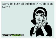 NKOTB...another good reason to be a teacher...summers free for my other husband!