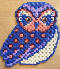 perler bead owl / hama bead perler pattern - Bügelperlen