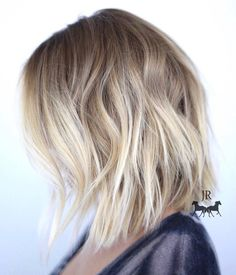 Blonde+Choppy+Lob