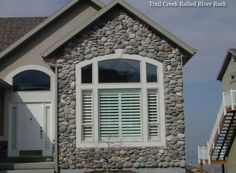 Rolled River Rock | Kodiak Mountain Stone Stone Gallery, Manufactured Stone, Rolls, Mountain, Windows, River, Outdoor Decor, Home Decor, Homemade Home Decor