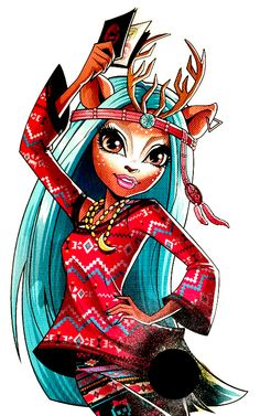 Isi Dawndancer is an exchange student from Boo Hexico, visiting Monster High on an exchange program. She is the daughter of a deer spirit, and loves to dance whenever the opportunity arises. Monster High School, Monster High Art, Monster High Dolls, Ever After High, Monster High Pictures, Walt Disney, Novi Stars, Personajes Monster High, Cool Monsters