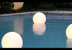 Acquaglobo at night...gorgeous pool lights