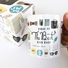 Give the perfect gift and brighten up someone's day with this newly revamped Best Life Ever mug! Whether it be for pioneer school, baptism, or just because, it's sure to bring a smile to someone's face.