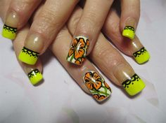 Flowers and lace - Nail Art Gallery