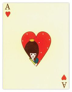 queen of heart trapped in an ace - paper crave